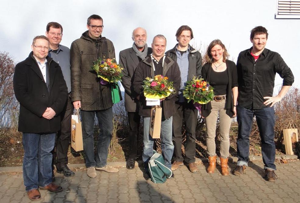 Foto:  v.l.: M.Glaser, C.Hinkel, Prof.Dr.Naumer, R.Gläsel, PD Dr.med. M.Stürmer, PD Dr.J.Schaffner-Bielich, E.Abt, Dr.H.Bosse
